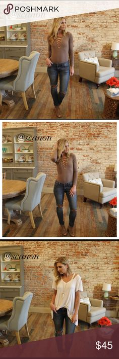 """Denim skinny jeans with destroyed knee Great fitting high quality low rise skinny with destroyed knee.  Nice stretch. Modeling size 3/27. 97% cotton 3% spandex.  Inseam 29"""". Add to bundle to save when purchasing. MA15510120 Jeans Skinny"""