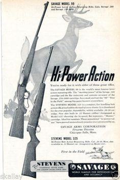 1949-Print-Ad-of-Savage-Stevens-Model-99-amp-325-Rifle-deer-hunting