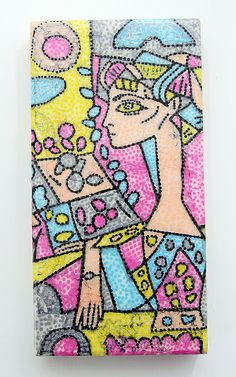 Picasso Inspired Art by Tina Walker for Shimmerz Paints. This PICTORIAL is AMAZING!!!!  Such an incredible idea!!!