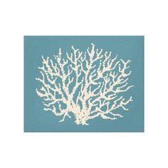 Sea Coral Wall Art Canvas Print #decor #wall art