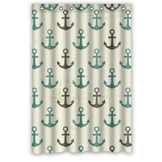 Original Fabric Shower Curtain Custom Retro Seamless Pattern of Nautical Anchor Shower Curtain 48 IN x 72 IN (9 holes)-in Shower Curtains from Home & Garden on Aliexpress.com | Alibaba Group