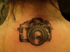 Simple camera tattoo.