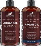 Win a hair care giftcard: http://dealz.space/bath-and-body-coupon Art Naturals Organic Moroccan Argan Oil Shampoo and Conditioner Set (2 x 16 Oz)  Sulfate Free  Volumizing & Moisturizing Gentle on Curly & Color Treated Hair For Men & Women  Infused with Keratin on sale