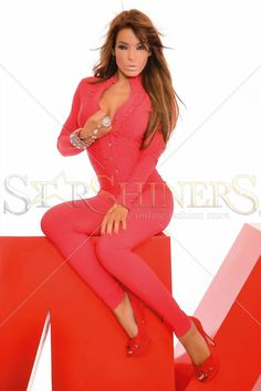 MissQ Sweet Tripping Red Jumpsuit