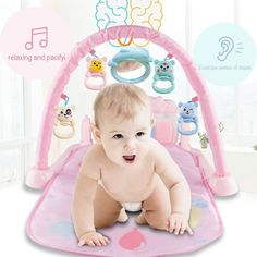 Newborn Baby Musical Toy Multi-function Pedal Piano Crawling Blanket Fitness Frame English Version for Early Education Foster Parenting, Kids And Parenting, Baby Musical Toys, Baby Activity Gym, Toys For Tots, Best Kids Toys, Early Education, Toys Shop, Natural Disasters