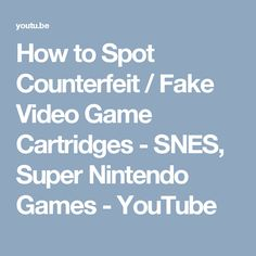 How to Spot Counterfeit / Fake Video Game Cartridges - SNES, Super Nintendo Games Super Nintendo Games, Chrono Trigger, School Games, Retro Video Games, Youtube, Youtubers, Youtube Movies