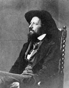 "1857 Alfred Lord Tennyson photographed by Lewis Carroll (Charles Lutwidge Dodgson Carroll described Tennyson as a ""strange shaggy-looking man"" with ""his hair, moustache, and beard"" all looking ""wild and neglected"". Lewis Carroll, Victoria Reign, Queen Victoria, The Lady Of Shalott, Alfred Lord Tennyson, Julia Margaret Cameron, Writers And Poets, English Writers, Before Us"