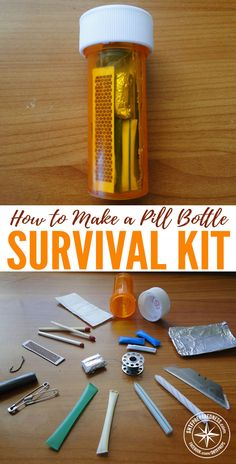 How To Make A Pill Bottle Survival Kit —We all know that any survival kit is better than no kit at all, that's why I love the Altoid tin survival kits and now my new favorite, the pill bottle survival kit. Survival Life Hacks, Survival Supplies, Emergency Supplies, Survival Food, Homestead Survival, Wilderness Survival, Camping Survival, Survival Knife, Survival Prepping