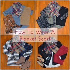 Classy Yet Trendy: How To Wear A Blanket Scarf 4 Ways