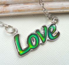 LOVE Color Change Necklace by JewelryJust4You on Etsy