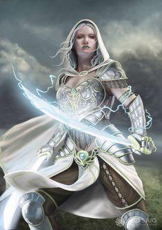 Lightning Sorceress, Jon Siva  on ArtStation at https://www.artstation.com/artwork/lightning-sorceress