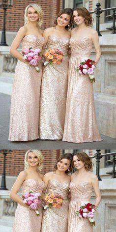 Gorgeous Sequin Elegant Sweet Heart Long Cheap Bridesmaid Dresses for  Wedding Party 6730ae525709