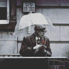 Candid umbrella rain rainy day crewe poppy day Sunday