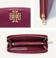 The Britten Zip Continental Wallet $195