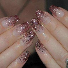Top Awesome Coffin Nails Design 2019 You Must Try Awesome coffin nails are the hottest nails now. We collected of the most popular coffin nails. So, you don't have to spend too much energy. It's easy to find your favorite coffin nail design. Hot Nails, Pink Nails, Hair And Nails, Rose Gold Glitter Nails, Glitter Nail Art, Pink Sparkle Nails, Nails With Glitter Tips, Sparkle Acrylic Nails, Acrylic Nail Designs Glitter