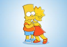 Bart and Lisa Simpson.
