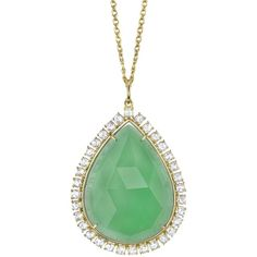 Irene Neuwirth chrysoprase and diamond necklace ($17,505) ❤ liked on Polyvore featuring jewelry, necklaces, metallic, irene neuwirth, fine jewellery, irene neuwirth jewelry, fine jewelry and diamond jewellery