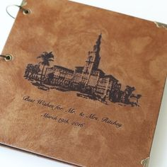 Personalized wedding Leather Photo Album/ Kraft Scrapbook Album /Weddi – DokkiDesign