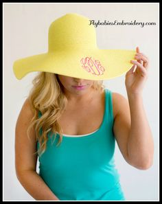 Women's Personalized Hat / Monogrammed by FlybabiesEmbroidery