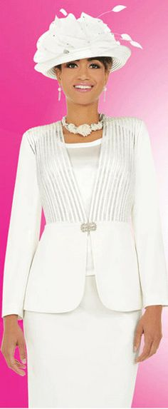 http://www.weddingstuff2014 3PC Jacket/Skirt Suits First Sunday White Church by Yesufashions, $149.00