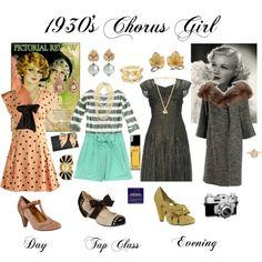 1930's Chorus Girl