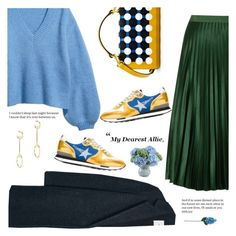 """""""My dearest Allie"""" by minorseventh ❤ liked on Polyvore featuring MANGO, Maison Scotch, Golden Goose, Chloé, New Growth Designs, Laura Cole, Henri Bendel and emeraldgreen"""