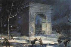 The Arch, Washington Square by Everett Shinn