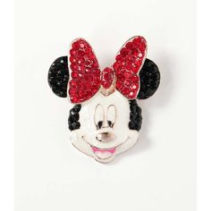 Rhinestone Mouse Brooch, Rhinestone Minnie Broach, Cartoon Wedding... (€17) ❤ liked on Polyvore featuring jewelry, brooches, brooch, red jewellery, red brooch, comic jewelry, comic book and red jewelry