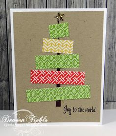 A Path of Paper: Fast, Quick, Fairly Clean and Simple Christmas Cards Simple Christmas Cards, Homemade Christmas Cards, Christmas Crafts For Kids, Handmade Christmas, Homemade Cards, Holiday Cards, Christmas Holidays, Christmas Tree, Origami