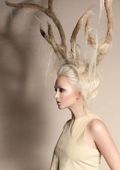 Blonde antlers
