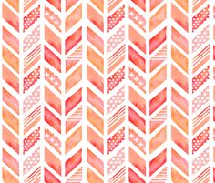 Watercolor Herringbone in Pinks by emilysanford, click to purchase fabric