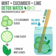 Mint + Cucumber + Lime Detox Water // @detoxwater Cleanse & nourish your body from the inside out with an all natural SkinnyMe teatox: www.skinnymetea.com.au Follow us on Insta: @smtofficial x