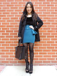 Sensible Stylista in a Deb Shops skirt