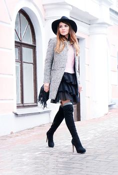MarybellWorld: My looks: Trends - fringe,hat and jack boots!