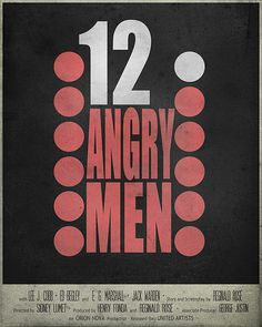 12 Angry Men (1957) ~ Minimal Movie Poster by Christian Frarey