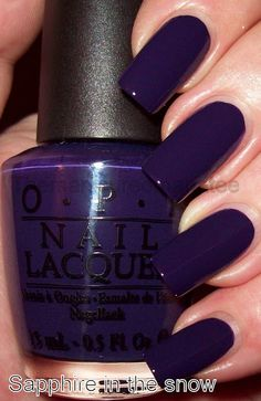 Nails Birthday Design Polish 39 Ideas For 2019 Opi Nails, Matte Nails, Stylish Nails, Trendy Nails, Colorful Nail Designs, Acrylic Nail Designs, Nails Ideias, Purple Manicure, Teal Nail Polish