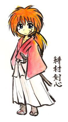 Rurouni Kenshin, Kenshin Anime, Kawaii Chibi, Anime Chibi, Manga Anime, Anime Nerd, Anime Guys, Kenshin Le Vagabond, Natsu Y Lucy
