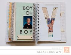 Alexes Brown - Carte Postal Mini Simple Stories, Basic Grey, Flourish, Mini Albums, Signage, Hand Lettering, Watercolor, Brown, Tags