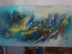 Aquarium, Painting, Acrylic Paintings, Abstract, Art, Goldfish Bowl, Fish Tank, Painting Art, Paintings
