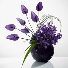 New flowers bouquet floral arrangements purple Ideas