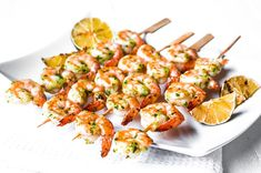 Grilled Pesto Shrimp - with an abundance of basil - think this might just be on the weekend menu!!!