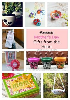 15 Homemade Mother's Day Gift Ideas From the Heart | Club Chica Circle - where crafty is contagious