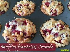 muffins framboises crumble wooloo2 Desserts With Biscuits, Muffin Bread, Elegant Desserts, Blueberry Recipes, Breakfast Muffins, Desert Recipes, Cupcake Cakes, Cupcakes, Bundt Cakes