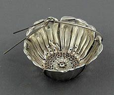 Gorham antique sterling silver poppy shaped tea infuser -Circa 1900