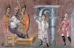 Vienna Genesis, 6th century; Joseph and the Pharaoh