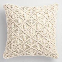 Jali Macrame Indoor Outdoor Throw Pillow