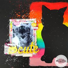 Showing the media for the username UK Scrap Addicts , Sarah here today with my mixed media layout. You can check out the process over on our YT channel (link in bio) Scrapbooking goodies from Scrapbooking Layouts, Scrapbook Pages, Craft Storage Box, Unicorn Backgrounds, A Little Chaos, Rainbow Pages, Collage Template, Rainbow Theme, Cat Silhouette