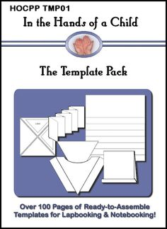 Lap book templates that you can type information into.