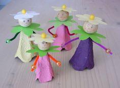 4 Preschool Crafts, Diy Crafts For Kids, Arts And Crafts, Paper Art, Paper Crafts, Egg Carton Crafts, Class Decoration, Punch Art, Summer Crafts