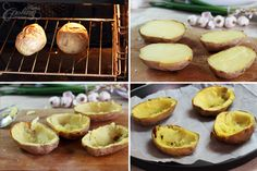 Twice Baked Potato with Egg on Top :: Home Cooking Adventure